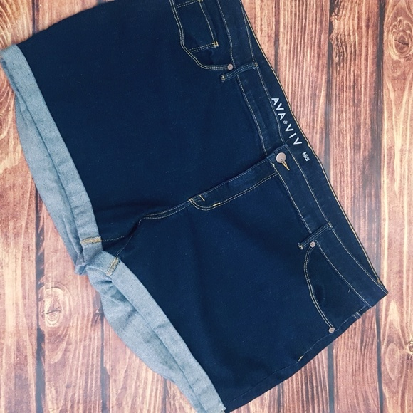 Mixed Intimate Items Ava & Viv Bermuda Jean Shorts Size 14 W